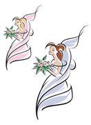 Young pretty bride Stock Illustration