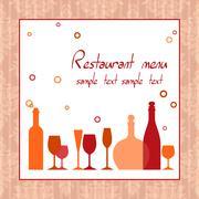 Alkoholi bar tai ravintolan menu Piirros