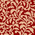 Stock Illustration of seamless pattern with decorative flourishes