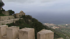 View over sicily Palermo Italy Stock Footage