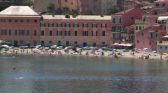 Beach in Sestri Levante, Italy Stock Footage