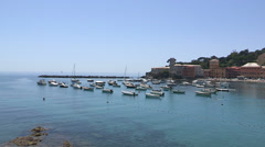 Small Italian port in Liguria Stock Footage