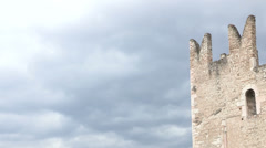 Arco castle in Italy Stock Footage