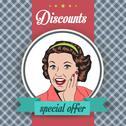 Stock Illustration of happy woman, commercial retro clipart illustration