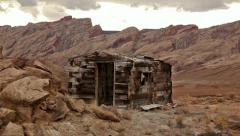 Miners shack abandoned ghost town horror scary Stock Footage