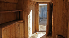 Interior dugout ranch abandoned #2 Stock Footage