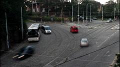 Urban transport, Prague - Badeniho street, time lapse Stock Footage