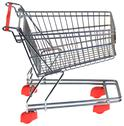 Stock Photo of shopping trolley cutout