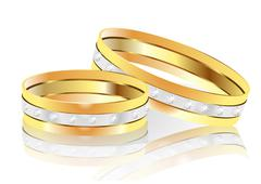 wedding rings - stock illustration