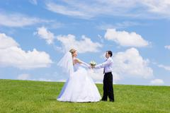 Newly-married couple Stock Photos