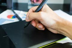 Pen tablet Stock Photos