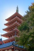 asakusa temple. - stock photo