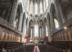 narbonne, cathedral interior - stock photo