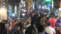 Tehran bazaar, people shopping, busy, crowded, Iran - stock footage
