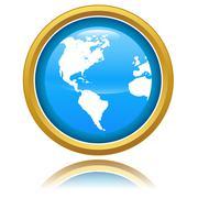 Globe icon - stock illustration