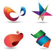 Colorful modern icons Stock Illustration