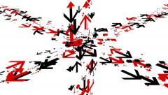 Various arrows moving in different directions. - stock footage