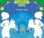 Stock Illustration of abstract card - winter sale