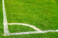 Corner line of soccer field Stock Photos