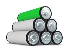 batteries - stock illustration