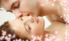 foreplay with flowers - stock illustration