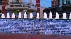 Fountains near Lexington Center - stock photo