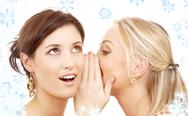 Stock Illustration of christmas gossip