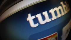 Tumblr roll and followers Stock Footage