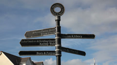 Directions sign Stock Footage