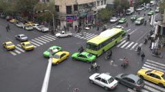 Kiireinen risteys keskustassa Teheranissa, Viivästys video Arkistovideo