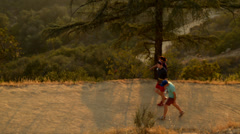 People walking on trail - stock footage