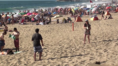 1006  Games at Reñaca Beach, Viña del Mar, Chile Stock Footage