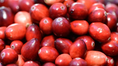 rotating cranberries (loopable) - stock footage