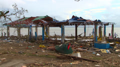 Typhoon haiyan yolanda storm surge aftermath Stock Footage