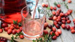 Cranberry juice Stock Footage