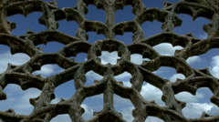 Rose window - Chapel Languidou  (4) -  Plovan France Stock Footage