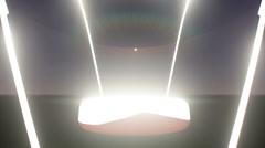 Camera track throug light bulb Stock Footage