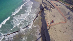 Bal Harbour Beach reconstruction Stock Footage