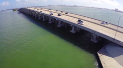 Julia Tuttle Causeway Miami Beach Stock Footage