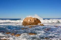 waves coming ashore - stock photo