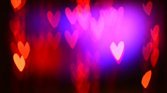 St. Valentine's Day Blinking Background Stock Footage