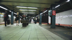 Subway System New York City Stock Footage