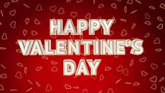 Valentine day sale loop with moving background. Red version. Stock Footage
