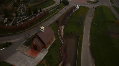 Flying over the church Stock Footage