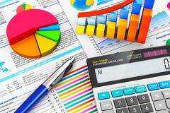 Business, finance and accounting concept - stock photo