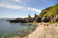 devon coastline in summer - stock photo