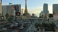 Road car traffic in Las Vegas, Ballys Paris Hotels, Strip street time-lapse 4K Footage
