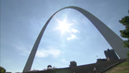 Stock Video Footage of Gateway Arch Rollin Dayside AO