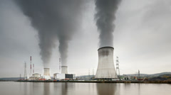 Nuclear Power Station Time Lapse Stock Footage
