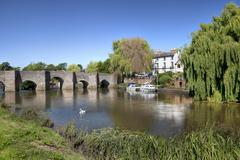 bidford-on-avon, warwickshire - stock photo